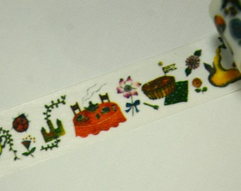 1 Roll of Japanese Washi Masking Paper Tape- Forrest Party