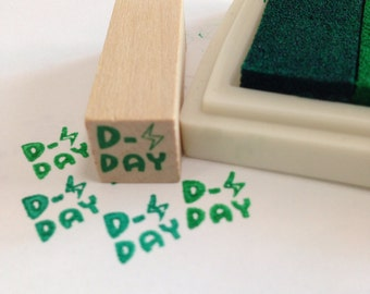A mini Wooden Rubber Stamp: D-Day