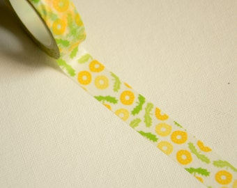 1 Roll of Japanese Washi Tape Roll- Spring Flower and Leaves