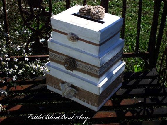 Stacked Wedding Card Box Add Rustic Wedding Card Box