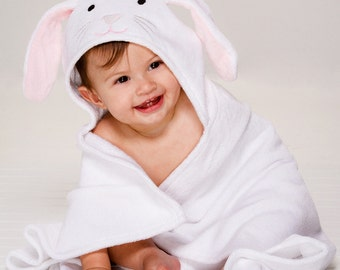 Personalized Hooded Baby Towel - Bunny