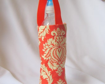 24oz 1L Insulated Water Bottle Orange goldenrod filligree
