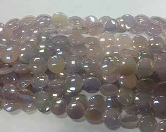 15mm glass, shiny coin beads, 23beads