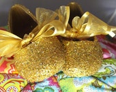 Flower Girl Shoes~Wedding Shoes~Bridal Shoes~Ballet Flats with Ribbon~Gold~Silver~Girls Glitter ~Ballet Flats~Fast Service!