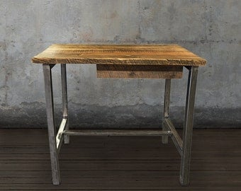 Reclaimed Wood Desk With Drawer