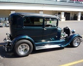 1929 Ford Model A , hot rod decor, show car,classic car, blue green classic car, street rod, fine art photography, digital download