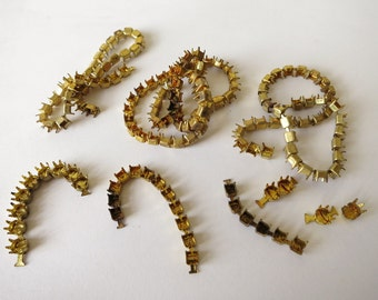 Vintage Swarovski brass setting chain assorted