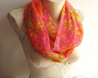 Floral Scarf , Neon Scarf , Lace Scarf