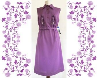 """1970's Vintage Deadstock NOS  """"Estrella"""" Embroidered Dress"""