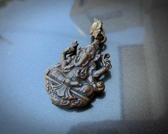 Vintage Brass Elephant pendant  (Ganesha)