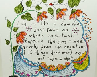 Tangle Greeting Cards, Quote Cards, Zentangled Inspired Cards, Hand Drawn Cards, Assorted Cards