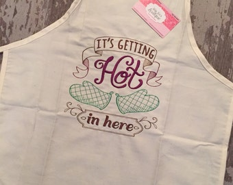 Its getting hot in here adult apron