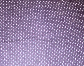 Navy Blue with Triple Drop Design Cotton-Blend Fabric - 33 Inch Plus DESTASH - Perfect for Aprons, Bags, Quilting, Childs Dress