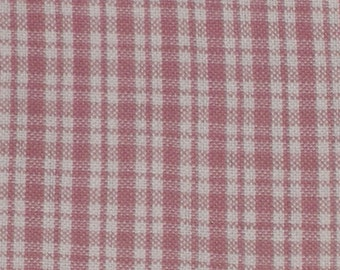 Fat Quarter Tiny Pink Red Tartan Cotton Fabric - 18 Inches x 22 Inches - Quilting, Sewing, Apparel, Beads - So Many Uses