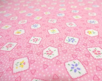Japanese Fabric Pretty LECIEN Mini Flower Pink  Fat Quarter