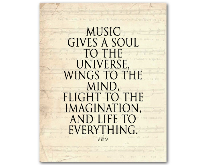 Music Gives A Soul To The Universe Wings By