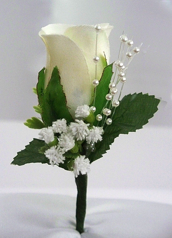 Wedding boutonniere ivory boutonniere rose corsage groom wedding boutonniere ivory boutonniere rose corsage groom boutonniere wedding corsage mens flower prom white silk wedding decorations junglespirit Image collections