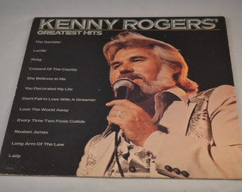Vintage Record Kenny Rogers: Greatest Hits Album LOO-1072