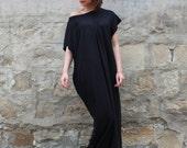 Black Caftan Dress , Maxi Dress , Kaftan , Summer dress , Oversized dress , Casual dress