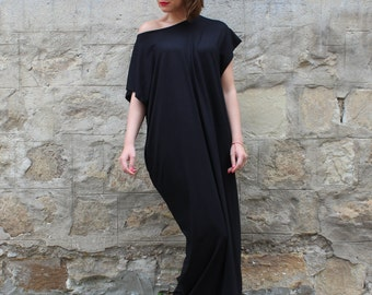 Black Maxi Dress, Plus Size Maxi Dress, Plus Size Black Dress, Off Shoulder Dress, Size S-4x Dress, Beach Dress, Boho Dress