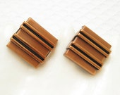 Large Copper Cufflinks Renoir Mens Vintage Jewelry Fifties Fashion H712
