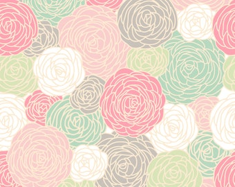 Blossom Print  Fabric by the Yard - NEW COLORWAY - SPRING