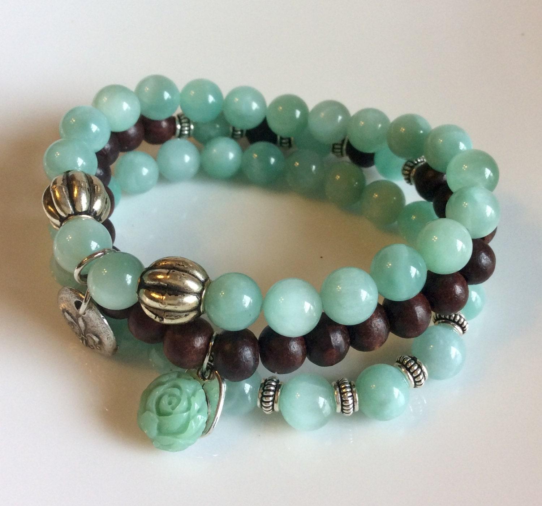 Yoga Beads: Yoga Beaded Stackable Stretch Bracelets