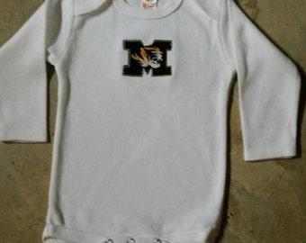 Mizzou Tigers One piece / Bodysuit for Boy or  Girl