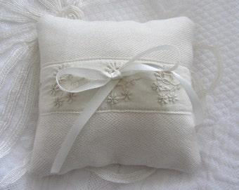 Wedding Ring Cushion, Ring Bearer Pillow