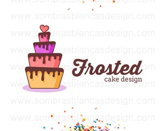 OOAK Premade Logo Design - Chocolate Layer Cake - Perfect for a bakery or a cake designer