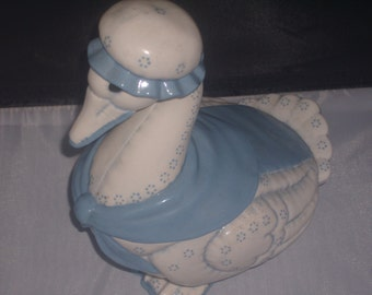 Blue Country Granny GOOSE COVERED DISH/Canister