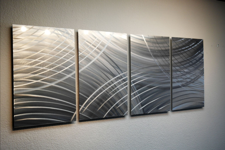 Metal Wall Art Aluminum Decor Abstract Contemporary Modern
