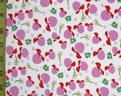 "Nylon Lycra Spandex PRINT 60"" 4 Way Stretch Costume *Swimwear *Dancewear *Skater* Fabric~Pinkish Purple Apples on White"