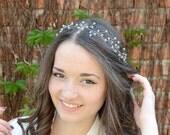 Crystal headpiece, Bridal headpiece, Bridal hair accessories, Wedding crown, Crystal Tiara, Halo, Crystal Hair Vine