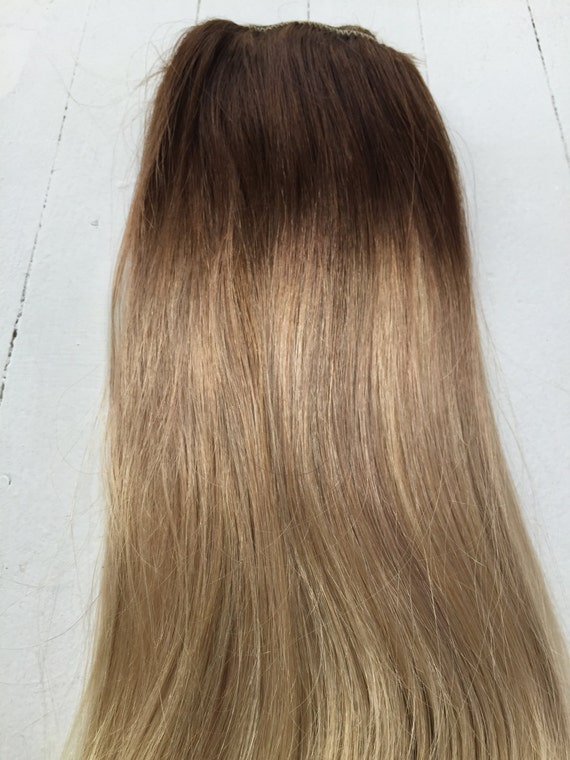 Ash Blonde Ombre Hair Extensions 23