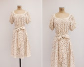 1970s Dress - Vintage 70s Floral Dress - Dehesa Dress