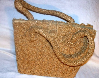 Vintage Straw Purse Handbag - 1950s - Its in the Bag - Japan - Ritter