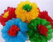 Tissue Paper Flowers - Set of 12 Fiesta Flowers Decor/Birthdays/Fiesta/Mexico/Parties