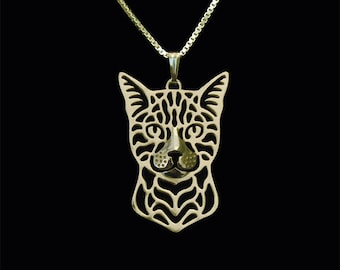 Bengal cat jewelry - Gold pendant and necklace