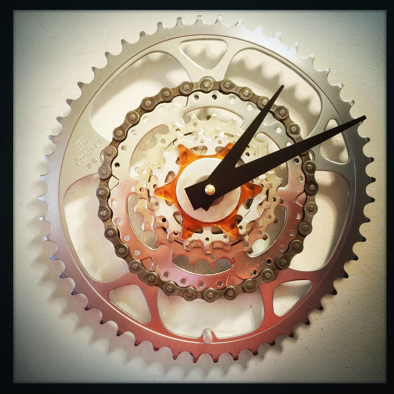 Steampunk Wall Clock Cycling Decor Unique Wall Clock