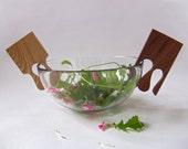 Handy HANDS - salad servers - Modern design wooden utensils - kitcchenware- Christmas / new home gift - FREE SHIPPING Worldwide!