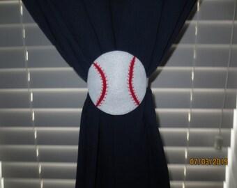 Baseball Tie-backs (Set of 2)