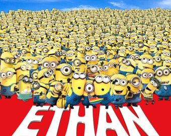 Minions Personalized Backdrop - JPEG File Only - You Print