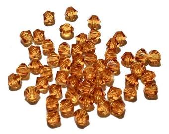 25 - 6mm, Topaz, 5301 Swarovski Crystals