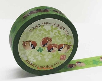 Creative Motion Sparrow Japanese Washi Tape Masking Tape Paper Tape Buy other items together for BETTER price.