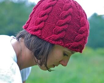 Hand Knit Beanie Hat - Women