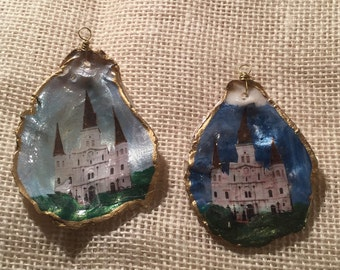 Night & Day St. Louis Cathedral Oyster Ornaments