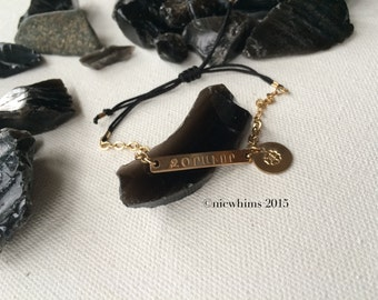 STRONG Armenian Word Bracelet / Armenian Genocide 100th Anniversary Awareness
