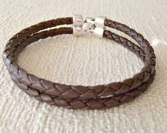 Mens leather bracelet, men leather bracelet, leather bracelet, mens bracelet, boyfriend gift, husband gift, mens jewelry, K1823