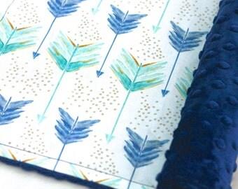 Arrow Baby Blanket-Organic Baby Blanket-A Shot in Water-Baby Boy-Aztec Baby